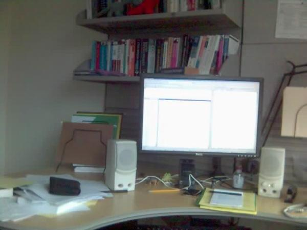 Messy desk (May 2008)