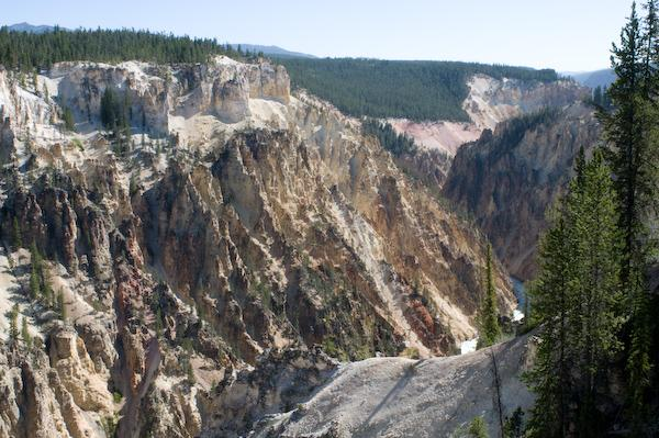 On our third hike, The Grand Canyon of the Yellowstone (Yellowstone NP, Wyoming)
