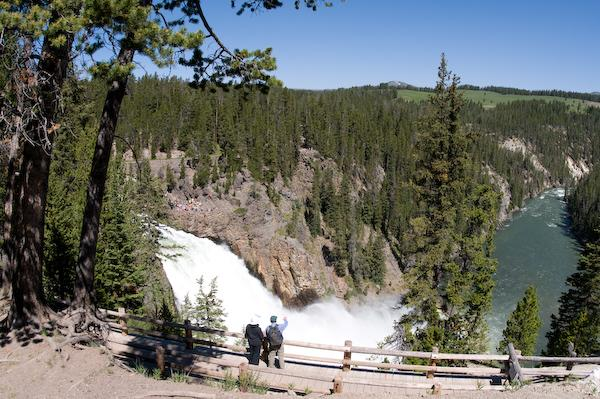 On our third hike, the upper falls (Yellowstone NP, Wyoming)