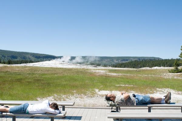 Waiting for Old Faithful (Yellowstone NP, Wyoming)