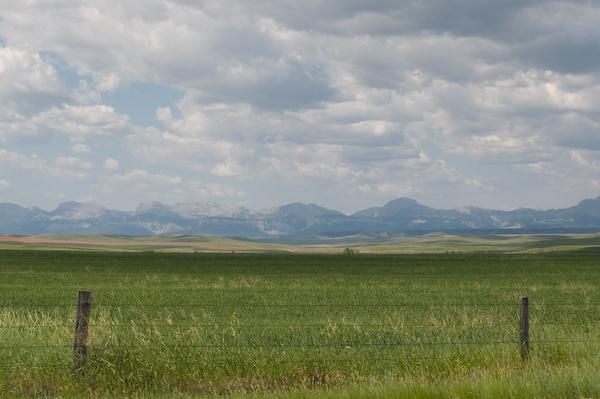 North of Great Falls, Montana